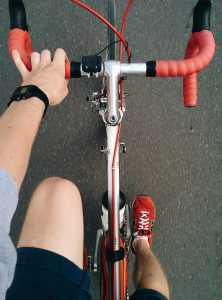 Going on a bike ride is a low impact exercise on your joints.