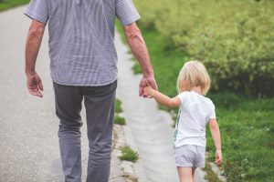 Being around your grandkids help keep you more active.