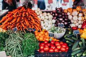 Many vegetables such as carrots, garlic, and brocolli have antioxidants that help fight cancer cells.