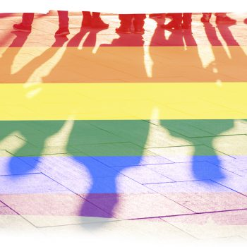 Pride flag Rainbow flag and shadows concept picture