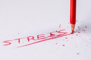 stress written in red ink for blood pressure