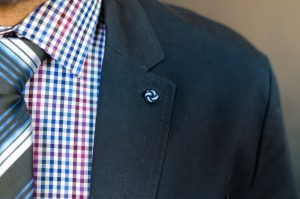 close up of a suit for an insurance agent