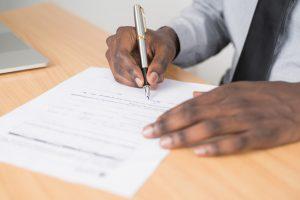 document for filing insurance claim