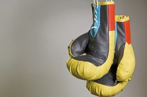yellow and black boxing gloves
