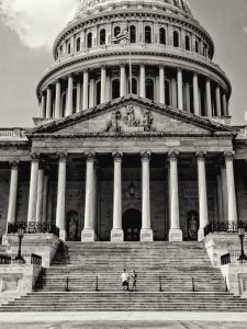 clack and white picture of congress