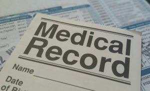 paper that says medical record