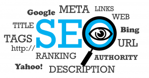 the word SEO with different seo related words around it