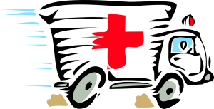 illustration of ambulance speeding
