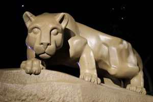 statue of Penn States's nittany lion