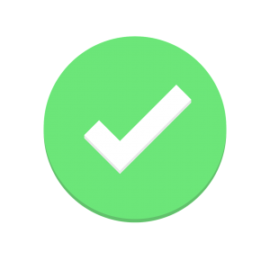 green circle with a white check mark in the middle