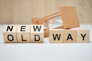 blocks that says old way with the word new on top of the word old
