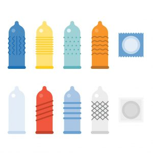 a plethora of different styled condoms