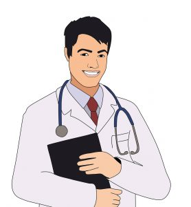 illustration of a male doctor