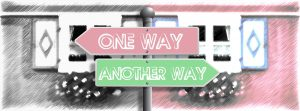 2 signs in different directions with a red one saying one way and the green one saying another way.
