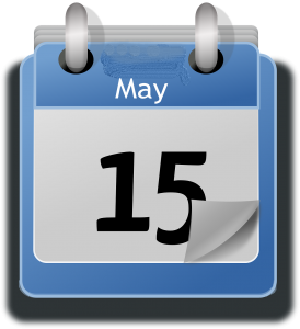 calendar with May 15 as the date