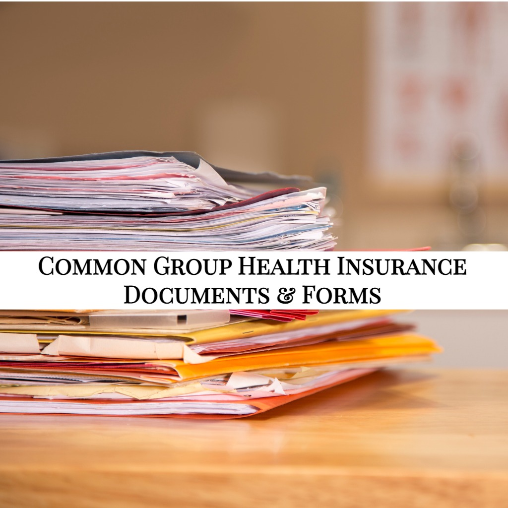 Common Group Health Insurance Documents & Forms - EZ.Insure