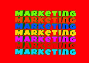 the word marketing written in different colors