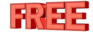 the word free in red