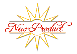 new product written in red