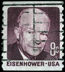 president Eisenhower on a stamp