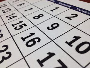 up close calendar dates
