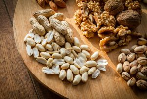 mixed nuts on a plater