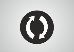 refresh symbol; two arrows going around