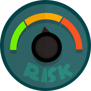 risk gage with green, orange, and red lines